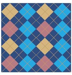 Argyle blue seamless pattern design vector