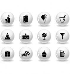 Glossy grey buttons vector