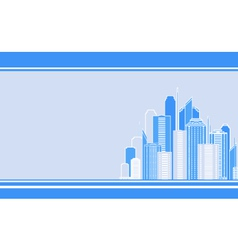 Business card with city landscape vector