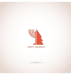 Happy hanukkah and happy holidays vector