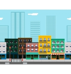 Seamless city street concept flat design town vector