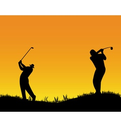 Two golfer vector