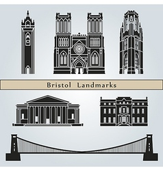 Bristol landmarks and monuments vector