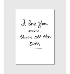 Handwritten love poster vector