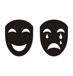 Theatrical masks vector