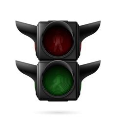 Pedestrian traffic light vector