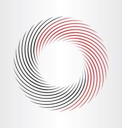 Decorative circle abstract frame icon vector