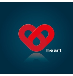 Symbol of red heart vector