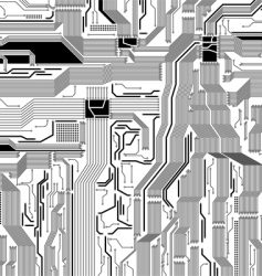 Circuit board pattern vector