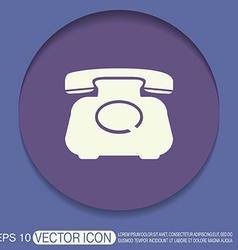 Classic retro phone vector