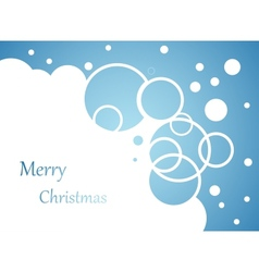 Christmas background snow flakes on blue vector