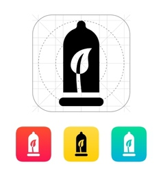 Eco material contraception icon vector