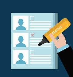 Vote design vector