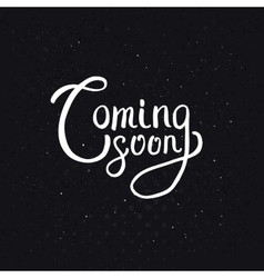 Coming soon texts on abstract black background vector