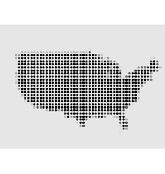 Map of united states made of dots vector