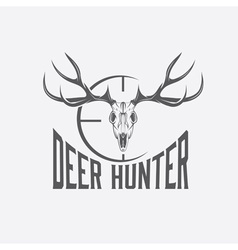Deer skull with target design template vector