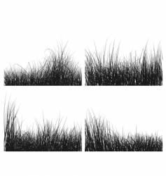 Grass silhouettes set vector