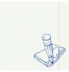 Pencil and notebook vector