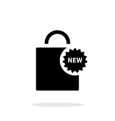 New shopping bag simple icon on white background vector