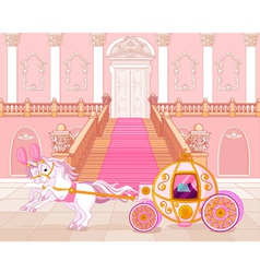 Fairytale pink carriage vector