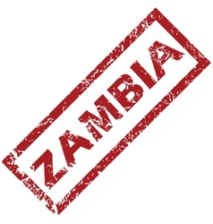 New zambia rubber stamp vector