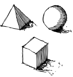 Sketch drawing of geometry vector