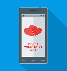 Happy valentines day and heart icon on the vector