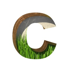 Grass cutted figure c paste to any background vector