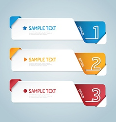 Banners set number modern design vector