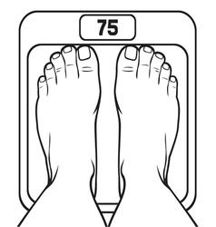 Feet on the scale vector