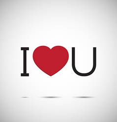 I love you heart design vector