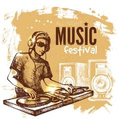 Music vintage background splash blob retro design vector