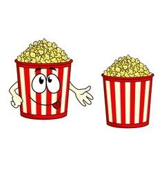 Cartoon popcorn character vector
