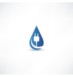 Water energy icon vector