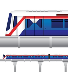 Sky train in bangkok thailand vector