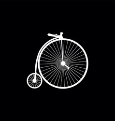 Bicycle symbol vector