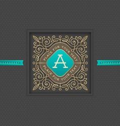 Monogram logo template design vector