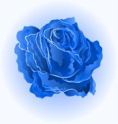 Blue rose simple symbol of love vector