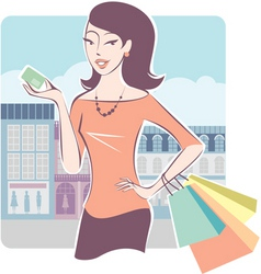 Shopping with credit card vector