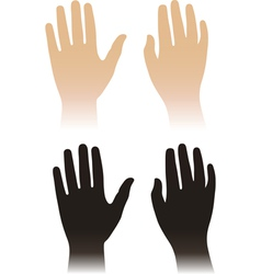 Woman man hands vector