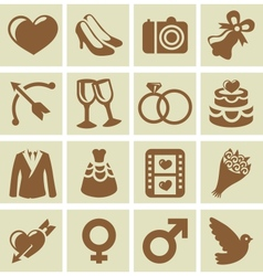 Design elements for wedding cards vector