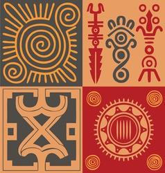Indian ornament set vector