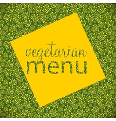 Vegetarian menu template vector