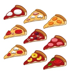 Pizza icon set vector