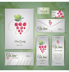 Grapes or wine concept design corporate identity vector