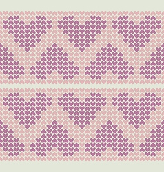 Band pattern with little hearts vector