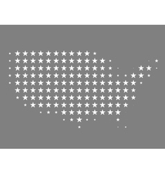 Map of united states made of stars vector