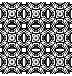 Vintage art deco pattern in black and white vector