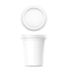White cream pot template vector