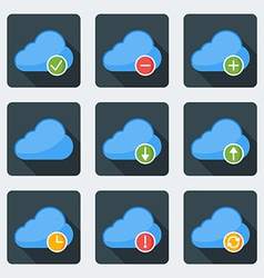 Flat style icon set for web and mobile application vector